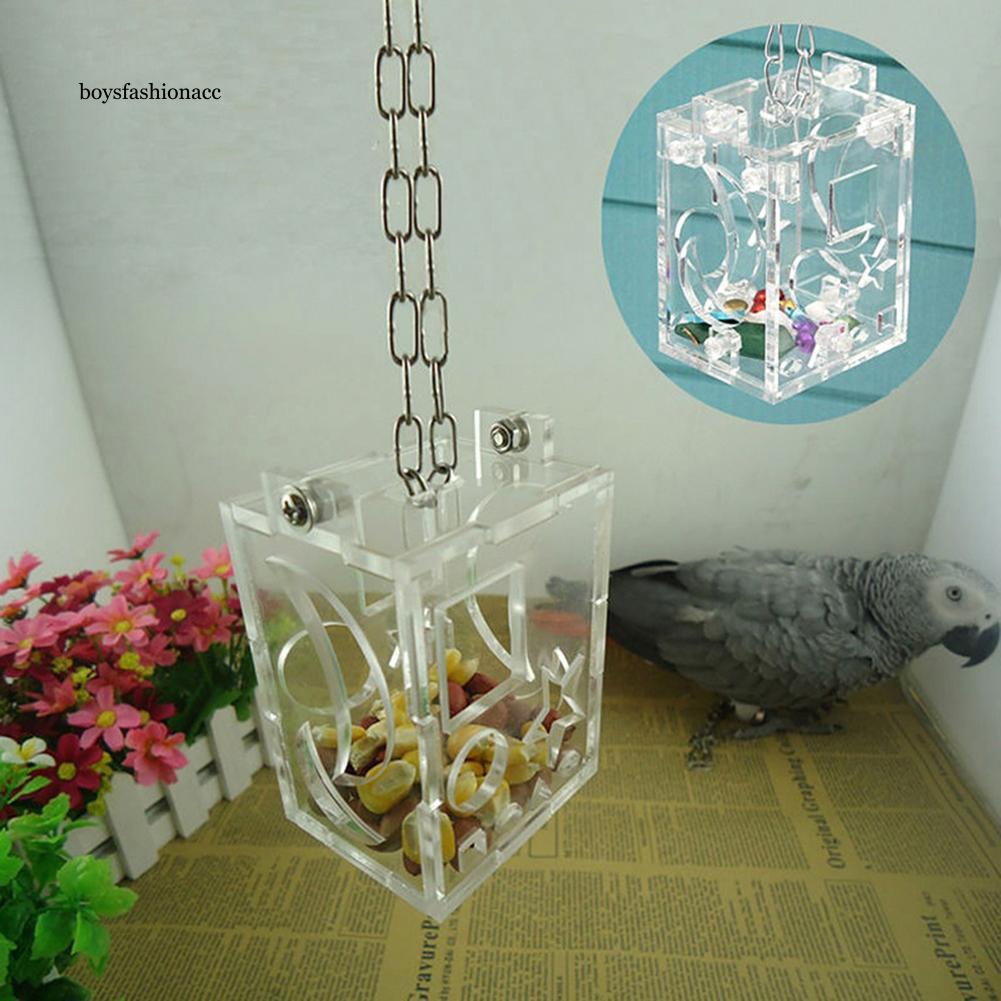BFA_Parrot Bird Feeder Hanging Forage Toys Pet Treat