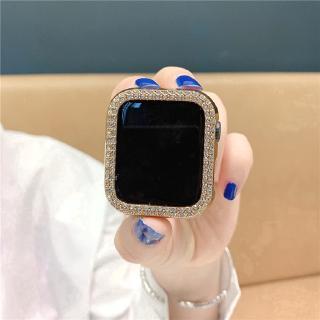 Vỏ đồng hồ Apple 38mm 42mm 40mm 44mm iWatch Series SE 6 5 4 3 2 1 bằng PC đính đá hai hàng trang trí thời trang thumbnail