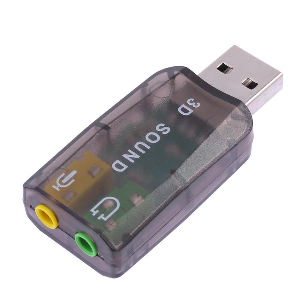 ☾MY]☽☞ USB Sound Card 5.1 CH 3D Audio Adapter for Desktop Laptop Notebook Computer Giá chỉ 13.200₫
