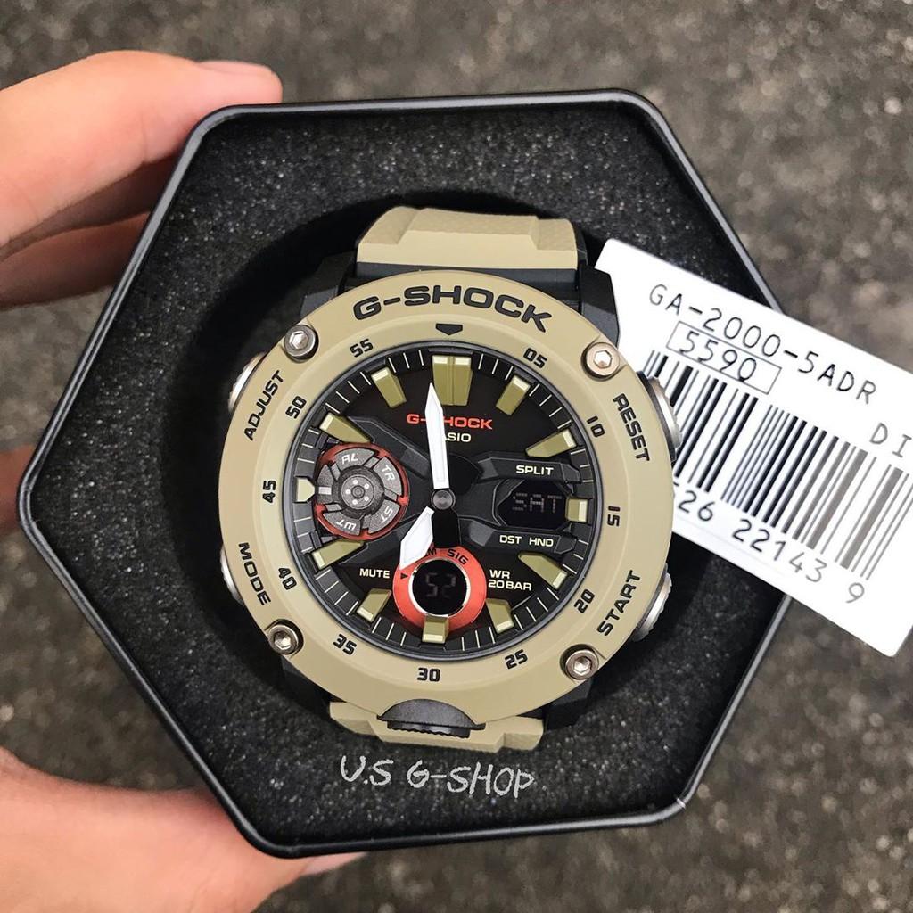 Đồng hồ nam Casio G-SHOCK GA-2000-5ADR – Chính hãng - NAM – QUARTZ (PIN) – DÂY CAO S