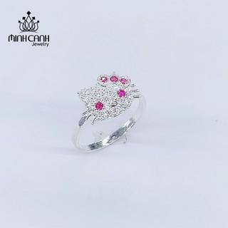 Nhẫn Bạc Cho Trẻ Em Mèo Hello Kitty - Minh Canh Jewelry