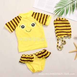 Meng Kids cartoon split comfort time Shangmong baby bathing suit swimming sea ba