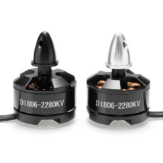 D1806 2280KV DXW 2-3S Brushless Motor CW CCW for 200 210 220 250 glass FPV racing frame