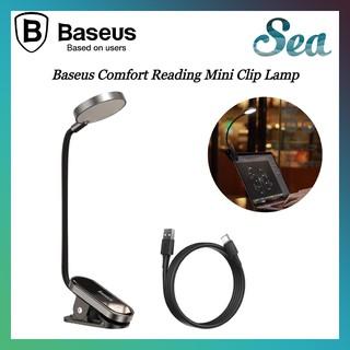 Đèn đọc sách mini Baseus - Pin sạc tiện dụng, nhỏ gọn (Dịu mắt, chân kẹp, 3 mức sáng, 350mAh, 24h) - Chính hãng