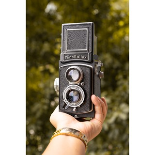 Máy ảnh film cổ 2 ống kính