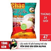Thùng 24 Gói CháoTổ Yến Thịt Bằm - Yến Sào Sài Gòn Anpha (47g / Gói) - 2570678 , 704426882 , 322_704426882 , 365000 , Thung-24-Goi-ChaoTo-Yen-Thit-Bam-Yen-Sao-Sai-Gon-Anpha-47g--Goi-322_704426882 , shopee.vn , Thùng 24 Gói CháoTổ Yến Thịt Bằm - Yến Sào Sài Gòn Anpha (47g / Gói)
