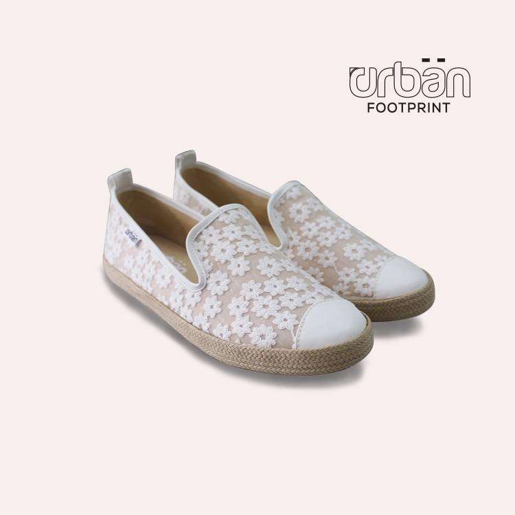 Giày slipon nữ D&A UL1821 trắng