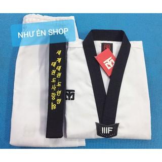 COMBO Võ phục Taekwondo MOTO & Đai đen cao cấp (2 vòng) .