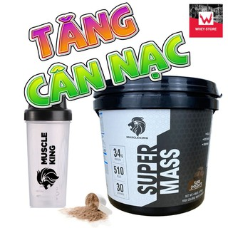 Sữa Tăng Cân SUPER MASS 2,25 KG + Tặng Shaker -Tăng Cân Nạc MUSCLE KING (Chính Hãng 100% - Có Tem Truy Xuất Chính Hãng thumbnail