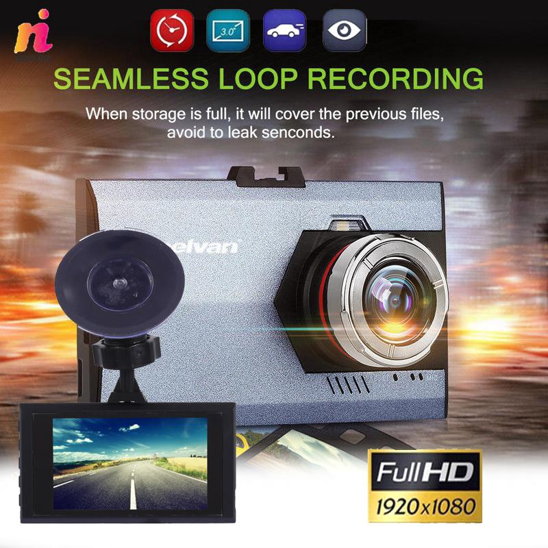 NL Car DVR Driving Recorder with 32G Card Reader G-Gensor HD1080P 140 Degrees 3inches