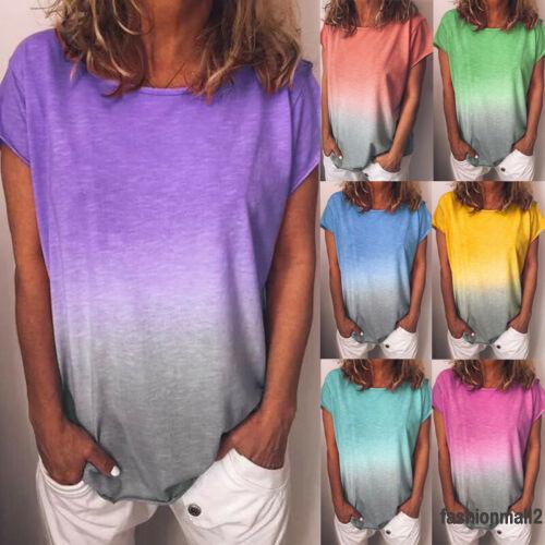 Áo thun tay ngắn phối màu thời trang cho nữ