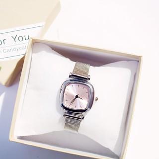 (Giá sỉ) Đồng hồ thời trang nữ dây lưới Jic mặt ánh hồng J89
