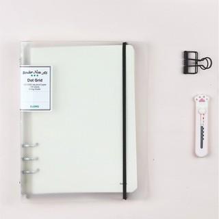 Sổ còng A5 giấy chấm Dot grid 100 tờ Klong bìa nhựa, gồm File còng + ruột sổ MS 995