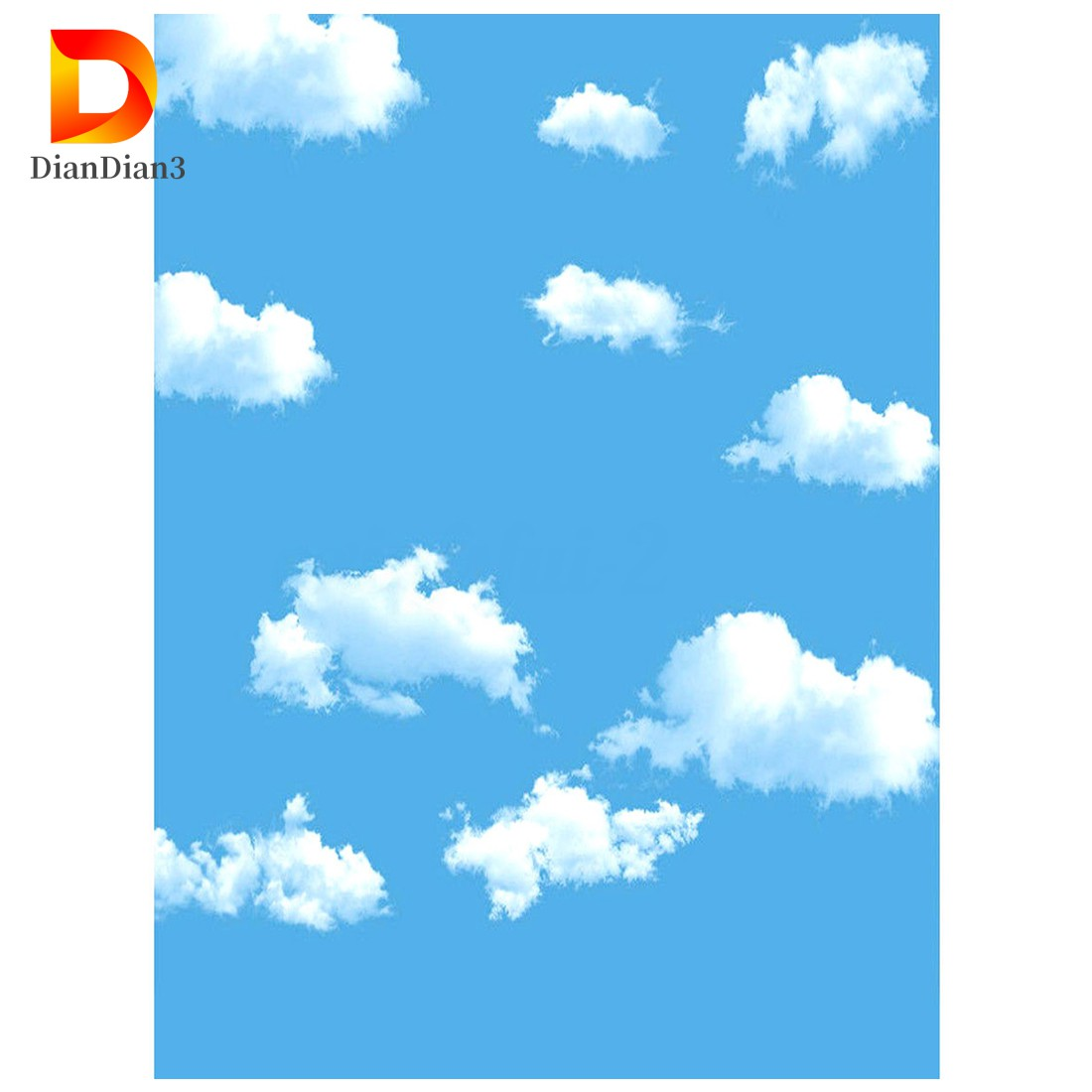 COD Ready Stock 3x5ft Blue Sky White Cloud Photography Backdrop Screen Background J4VN