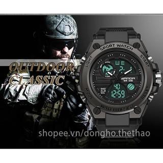[HOT] Đồng Hồ Thể Thao Nam Chuẩn Quân Đội Chống Sốc Chống Nước, Kim Điện Tử Đa Chức Năng SANDA DH038