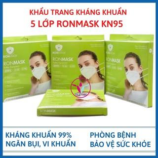 [Hàng chính hãng] Khẩu trang kháng khuẩn 5 lớp Ronmask KN95 – Khẩu trang ngăn bụi mịn và vi khuẩn đạt chuẩn 99%