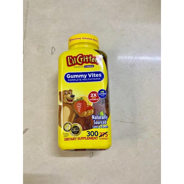 Thực phẩm bảo vệ sức khỏe 'il Critters Gummy Vites 300 viên( hsd