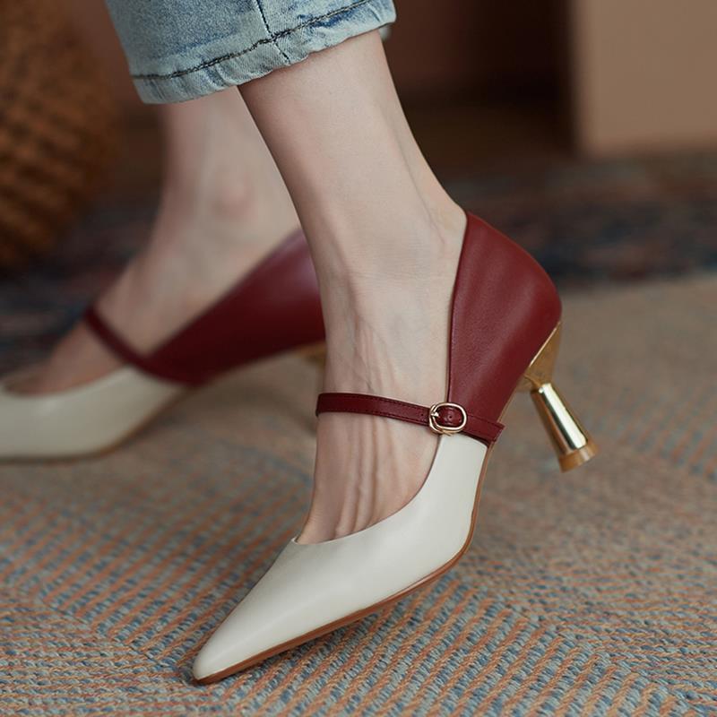 Giày Cao Gót Màu Đỏ Kiểu Dáng Trẻ Trung Quyến Rũ Cho Nữ