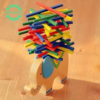 🔥Elephant Balancing Blocks Wooden Toys Beech Wood Balance For Child