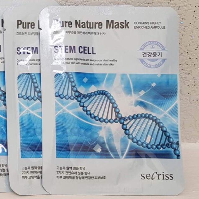 Combo 10 Mặt nạ dưỡng trắng, mềm mịn da SECRISS PURE NATURE nhập khẩu trực tiếp từ HÀN QUỐC