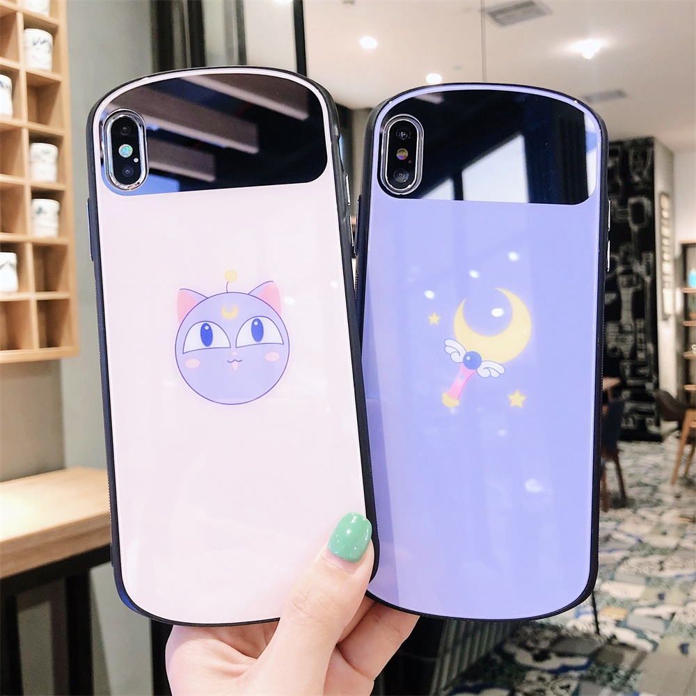 Phone case Back cover XS MAX Couples Glass Fashion X Protective XS XR Anti-fall 7Plus 8Plus 7/8