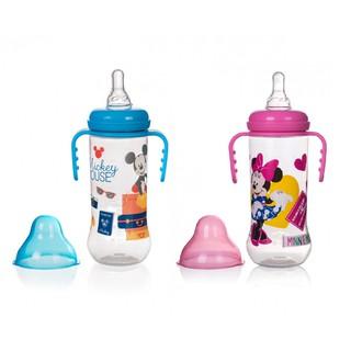 Bình Sữa Có Tay Cầm 250ml xanh hồng Disney DN80131