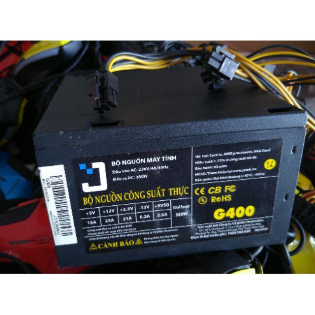 Nguồn Máy Tính 400W công suất thật có led xanh