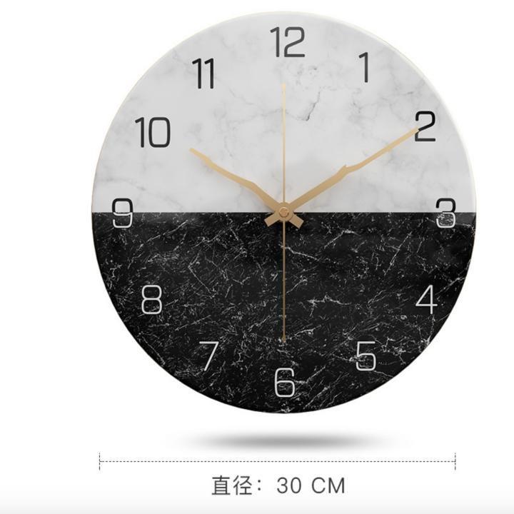 Nordic Marble Wall Clock Đồng Hồ trang trí cao cấp - Home and Garden