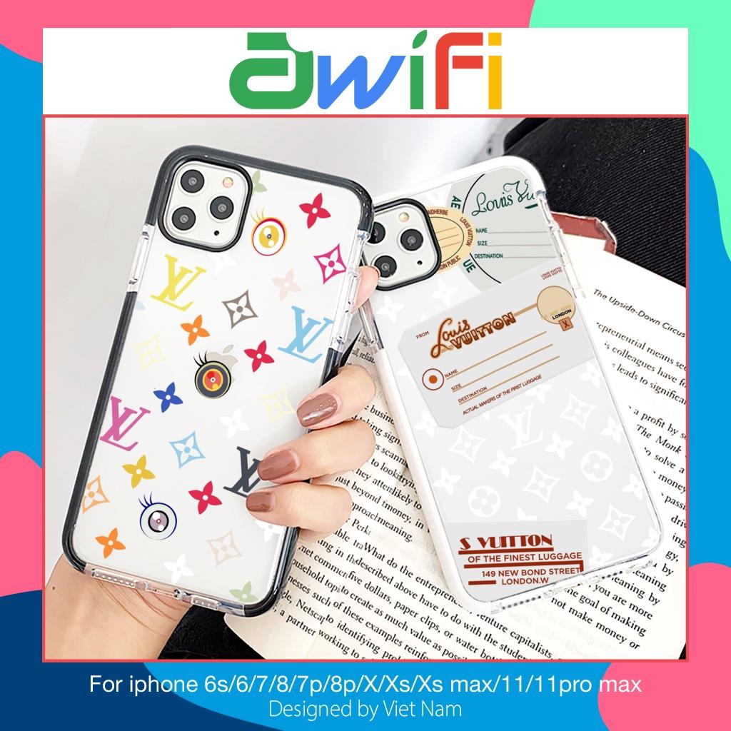 Ốp iphone - Ốp lưng Louis Vuitton cạnh 5s/6/6s/6plus/6splus/7/8/7plus/8plus/x/xs/xs max/11/11pro max - Awifi Case K6-4