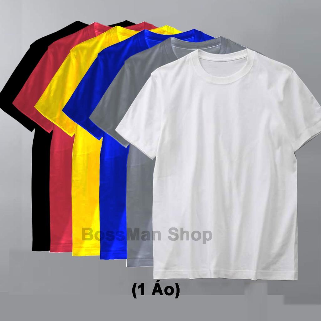 Áo Thun Nam Nữ Cotton - Trơn Cổ Tròn vải mịn mát BM02 (nhiều màu)