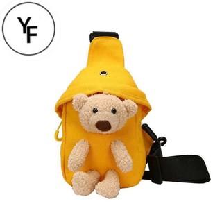 Túi đeo chéo hình gấu 🐻🐻nhồi bông phong cách Hàn Quốc TÚI XINH CHO BÉ 012