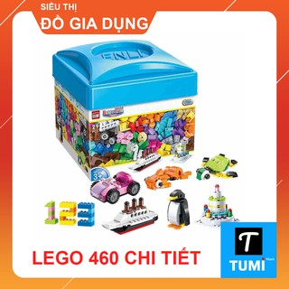 [SALE] – BỘ LEGO HỘP VUÔNG 460 CHI TIẾT LẮP GHÉP SÁNG TẠO CHO BÉ