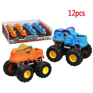 Dinosaur Model Mini Toy Inertial Deformation Robot Truck Funny Children Gift