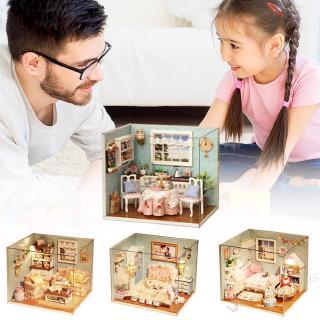 Ki 3D DIY Doll House Wooden Doll Houses Miniature Dollhouse Furniture Kit