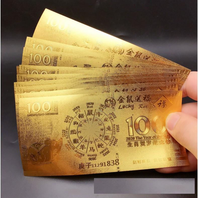 ? Bao Lì xì đồng tiền vàng - Lá tiền vàng in chuột tài lộc may mắn có bán rời