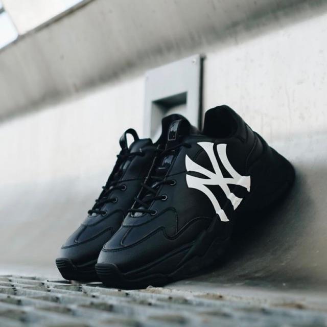 [Chính Hãng Freeship] Giày Sneaker NY  MLB đen Hàn Quốc