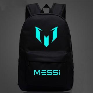 Ba lô vải dù phát quang Messi N131 (Đen)