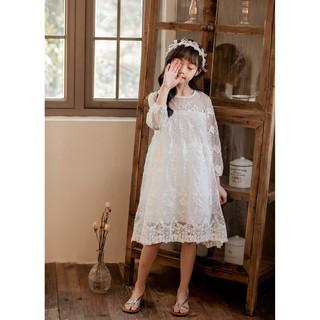 Váy công chúa ren trắng cho bé gái Sophia V01