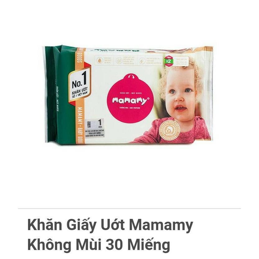 Khăn giấy ướt Mamamy không mùi 30 tờ