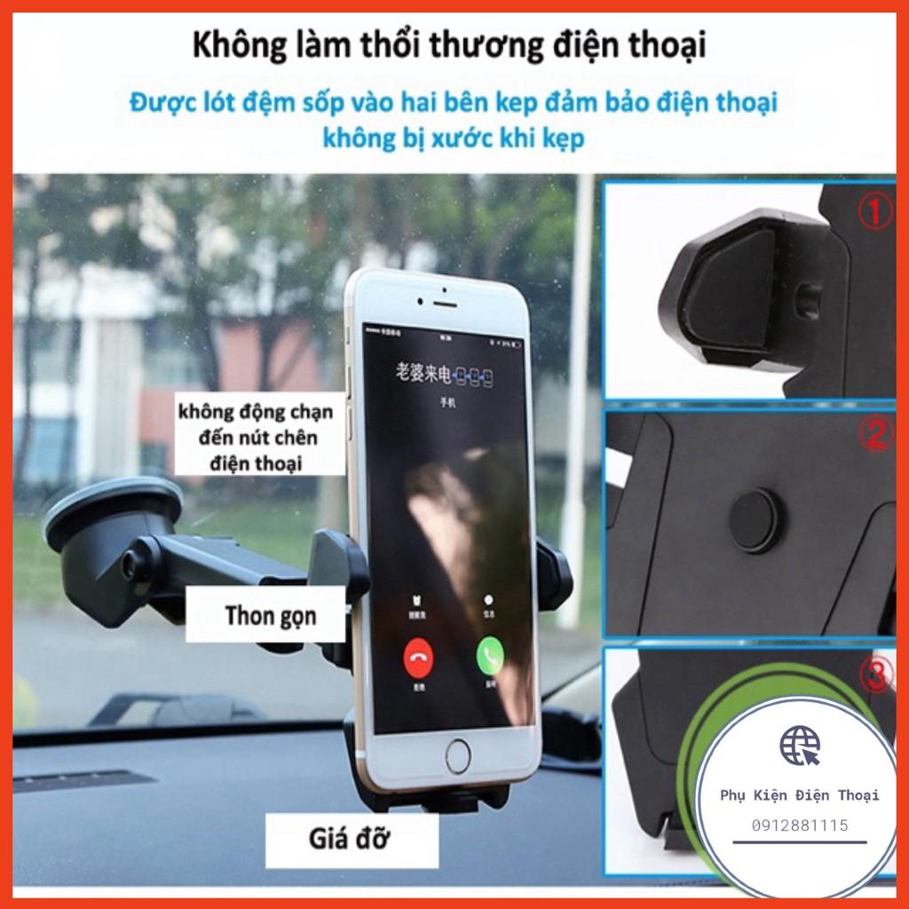 Giá đỡ kẹp điện thoại trên xe hơi xoay 360 độ, ô tô ở mọi vị trí kéo gấp thu gọn ⚡Phụ Kiện Điện Thoại⚡️