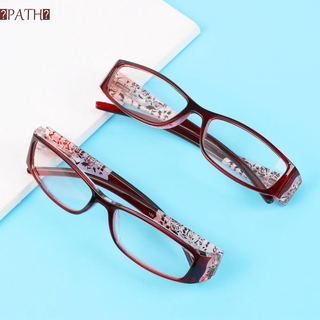 PATH Ultralight Anti Blue Light Reading Glasses Radiation Protection Printing Eyeglasses Presbyopic Eyewear Vision Care Men Women Fashion Anti-blue Rays Retro Classic Computer Goggles