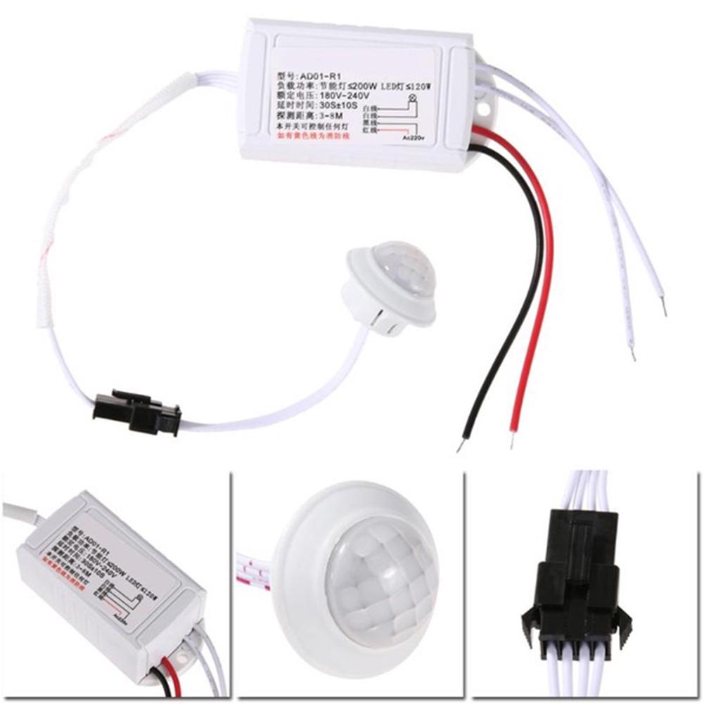 1Pcs IR Body Sensor Intelligent Light, 220V Infrared Module Motion Sensing Detector Switch Smart Light