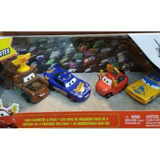 Combo 4 xe mô hình McQueen Disney Pixar – Fan Favorites