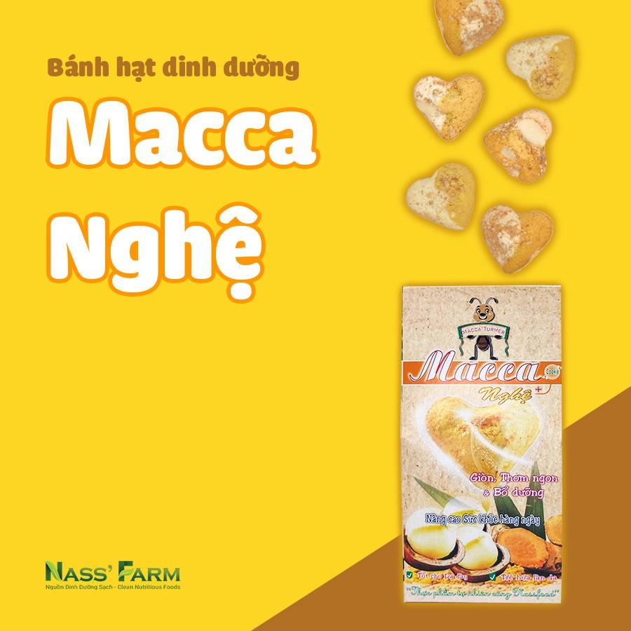 [BÁNH TRÁI TIM] Bánh quy dinh dưỡng hạt Mắc ca kết hợp Nghệ - Hộp 12 bánh/45Gram