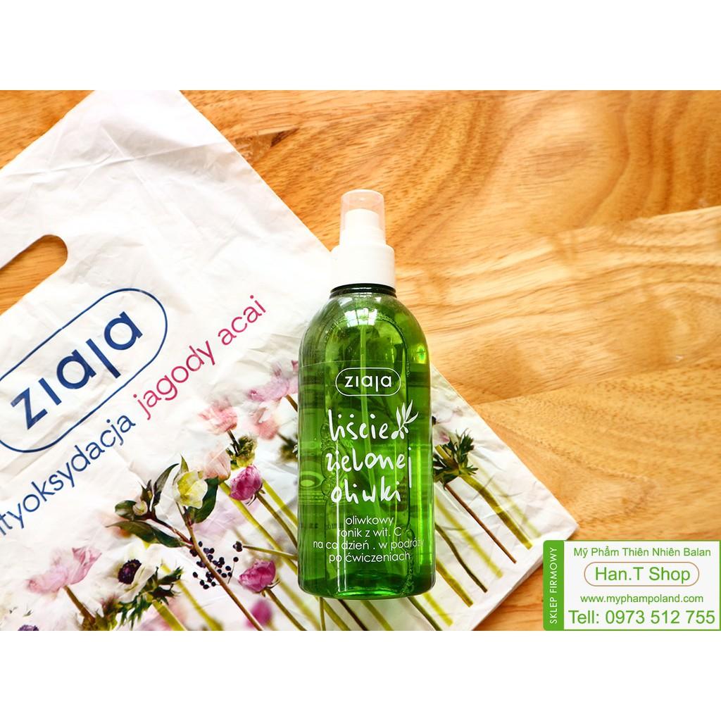 Nước hoa hồng dạng xịt Ziaja Chiết Xuất Olive Và Vitamin C