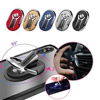 Giá đỡ dán lưng điện thoại gắn lỗ thông hơi điều hòa ô tô, góc xoay 360 độ linh hoạt, chất liệu hợp kim chắc chắn