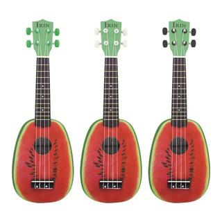 21 Inch 12 Fret 4 String Basswood Ukulele Electric Acoustic Guitar Watermelon
