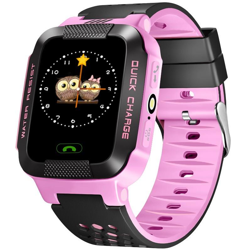 Đồng hồ thông minh có định vị GPS - LBS Q528 (hồng)