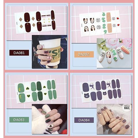 Bộ nhãn dán móng tay trang trí 3D DA081-DA100