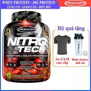 Sữa tăng cơ giảm mỡ NitroTech của MuscleTech hộp 1.8kg hỗ trợ tăng cơ cực mạnh - Nhập khẩu chính hãng TCSPORT thumbnail